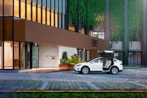 Entrance of BEI Zhaolong Hotel, a Joie de Vivre Hotel (Photo: Business Wire)