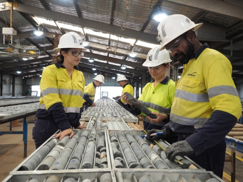 Newmont Goldcorp geology team members at Tanami in Australia. (Photo: Business Wire)