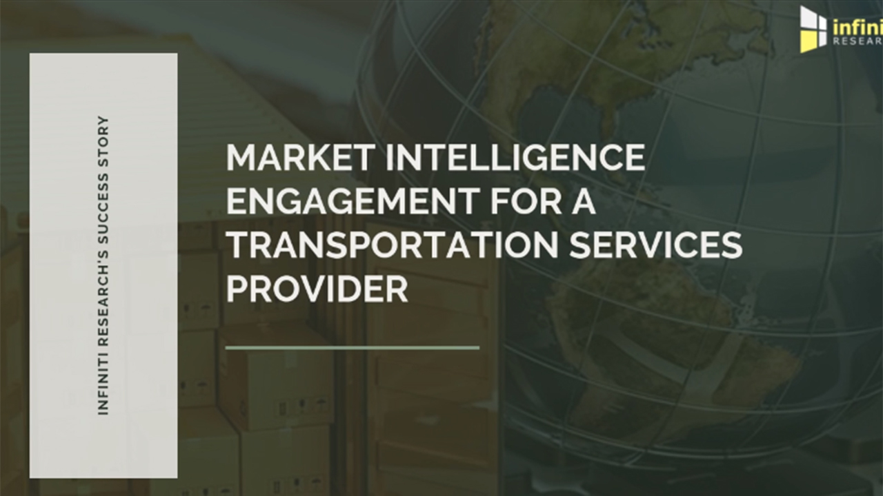 Market intelligence engagement for a transportation services provider