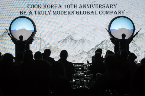Cook Korea celebrates a decade of commitment to local staff and community with a traditional drum performance.  (Photo: Business Wire)