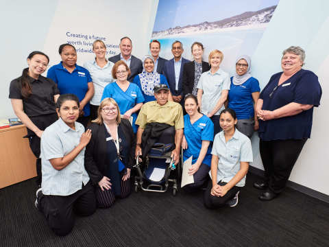 1. The Fresenius Medical Care management team, staff and patients celebrate 10th anniversary and expansion of Fresenius Kidney Care Spearwood Clinic with enhanced home therapy support in Perth, Western Australia.