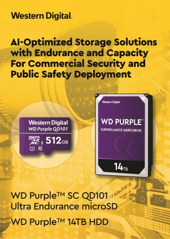 Western Digital Introduces Storage Optimized for Public Safety, AI and Smart City Deployments (Graphic: Business Wire)