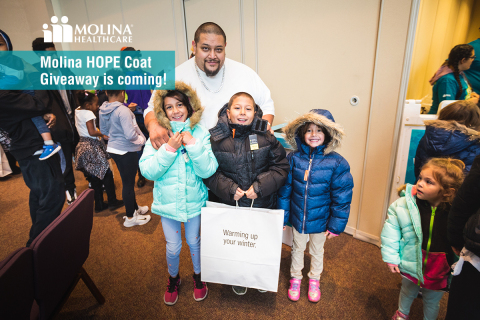 Molina HOPE Winter Coat Giveaway recipients in 2018 (Photo: Business Wire)