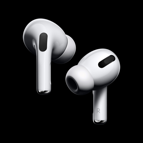 AirPods Pro bring Active Noise Cancellation with superior sound to the AirPods family. (Photo: Business Wire)