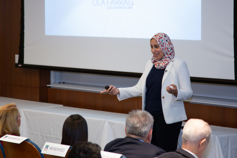 The Dr. Edward B. Shils Entrepreneurial Fund recently held its third annual Shils Stars Dental Student Competition and its 17th annual awards ceremony. Ola Adel Farrag, a student at the University of Pennsylvania School of Dental Medicine, took first place in the student competition. (Photo: Business Wire)