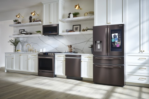 Samsung Family Hub's New Software Updates Provide Convenience, Control and Access in the Kitchen (Photo: Business Wire)