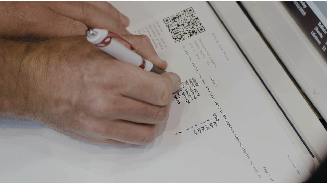 Verity Duo's newly patented OCR technology guarantees a 100% voter-verifiable paper trail. Only Duo provides a full page summary ballot that tabulates votes from the same words the voter verified, not a barcode.