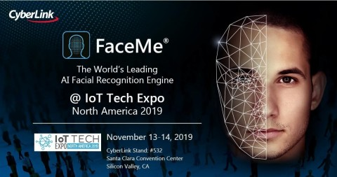 CyberLink Showcases FaceMe® AI Facial Recognition Solution at IoT Tech Expo 2019 (Graphic: Business Wire)