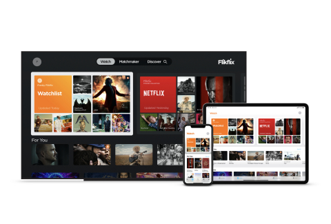 Flikflix® is available today in the Apple App Store for iPhone, iPod touch, iPad and Apple TV. (Photo: Business Wire)