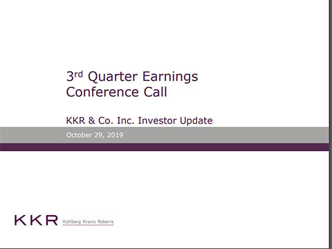 KKR Q3'19 Supplemental Operating and Financial Data