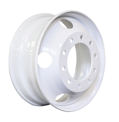 """Maxion Wheels' newest commercial vehicle wheel (Tough and Light) is the """"toughest and lightest"""" standard 22.5x8.25 commercial vehicle steel wheel in the market. A new design combined with optimization analysis eliminated four lbs. of material and reduced wheel structural stresses by more than 10%. The wheel will be available in 2020. (Photo: Business Wire)"""