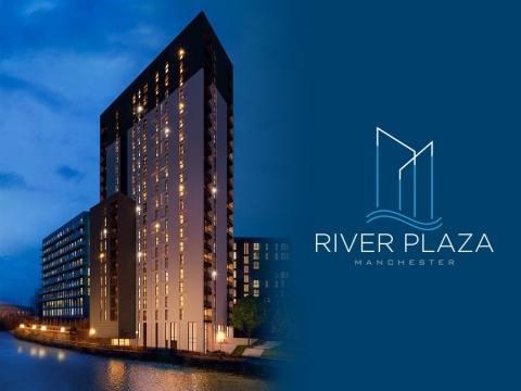River Plaza, a luxury real estate development in Manchester, UK. (Photo: Business Wire)