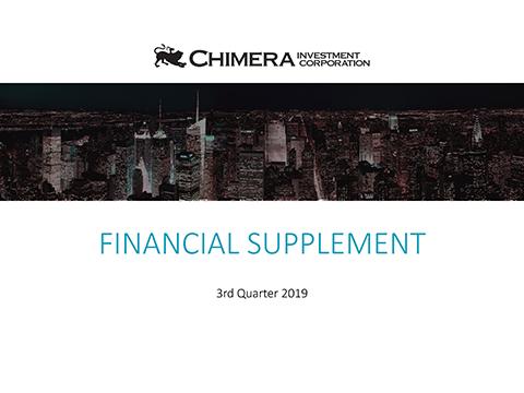 Financial Supplement - 3rd Quarter 2019