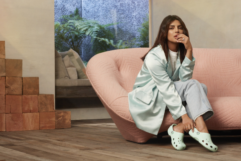 "Priyanka Chopra Jonas in Classic Clogs as the newest global brand ambassador for Crocs' 2020 ""Come As You Are"" Campaign. (Photo: Business Wire)"