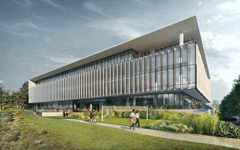 Rendering of APEX, BioMed Realty's ground up technology and life science hub with proximity to the University of California San Diego and easy access to major freeways and a variety of retail and entertainment amenities. (Photo: Business Wire)