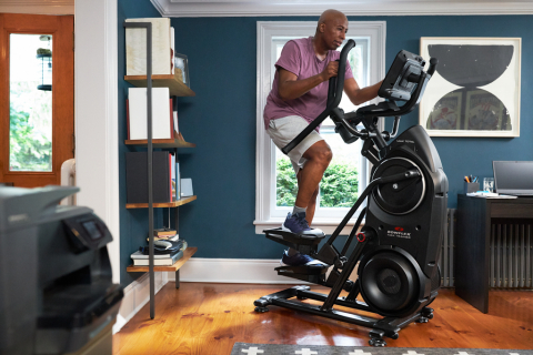 New Bowflex® Max Total™ cardio machine features a built-in touch screen and provides seamless integration with JRNY™, so the product automatically adjusts to the user's workout needs. (Photo: Business Wire)