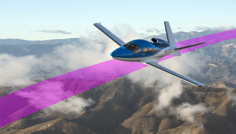 Garmin Autoland is featured as part of the G3000 integrated flight deck in the Cirrus Vision Jet (Photo: Business Wire)