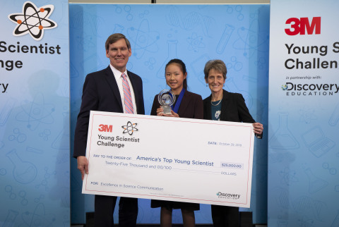 Kara Fan named America's Top Young Scientist (Photo credit: 3M)