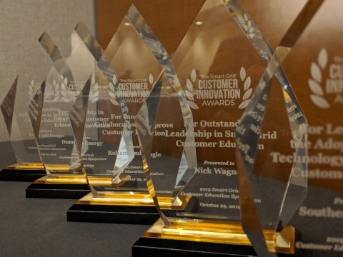 2019 Smart Grid Customer Innovation Awards handed out last night at the Smart Grid Customer Education Symposium in Washington, DC. (Photo: Business Wire)