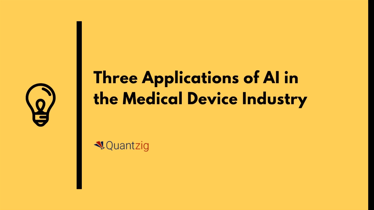 Three Applications of AI in the Medical Device Industry