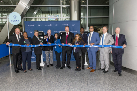 CLEAR, United Airlines and Houston Airport System officials gather for the official launch of CLEAR in Terminals B and E at George Bush Intercontinental Airport (Photo: Business Wire)