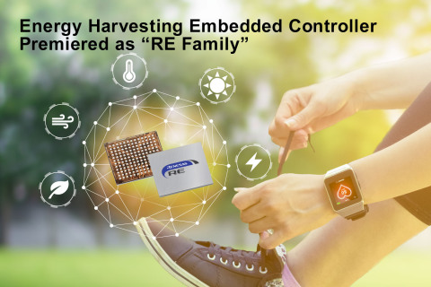 "Energy harvesting embedded controller premiered as ""RE Family"" (Graphic: Business Wire)"