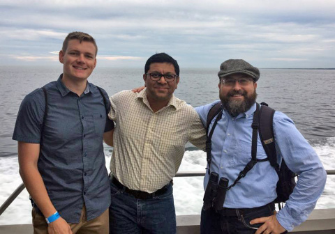 Dr. Carl Christel (right) is heading the U.S. office of SIRION Biotech and hires Dr. Rajesh Panigrahi (middle) and Dr. Roman O. Braun (left) (Photo: Business Wire)