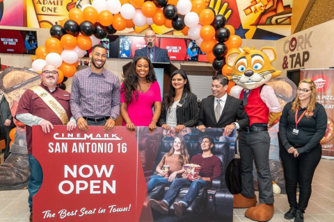 The Cinemark San Antonio 16 theatre celebrates its grand reopening. (Photo: Business Wire)