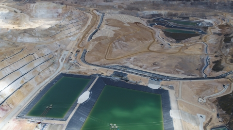 Newmont Goldcorp: Quecher Main's leach pad and associated facilities. (Photo: Business Wire)
