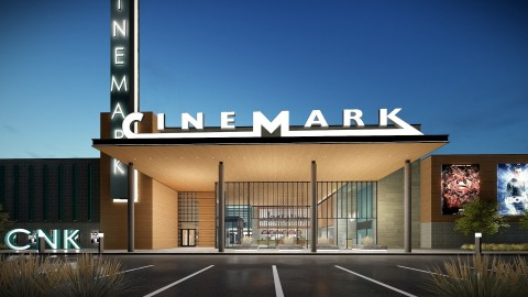 A brand-new, modern 12-screen Cinemark Theatre will be an entertainment anchor in The Gateway at Rapid City. Construction begins summer of 2020 with the opening scheduled for spring 2021. (Photo: Business Wire)