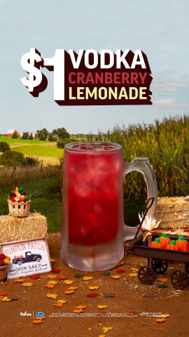 Celebrate the Season of Togetherness with Applebee's $1 Vodka Cranberry Lemonade (Graphic: Business Wire)