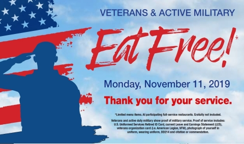 Veterans Eat Free at Country Pride and Iron Skillet (Graphic: Business Wire)