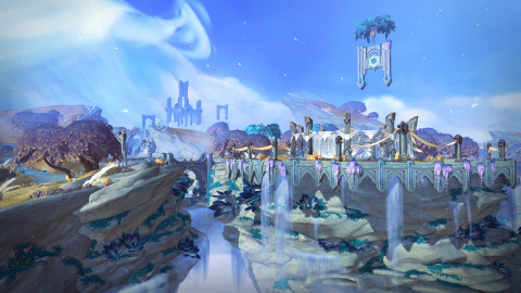 Otherworldly wonders and challenges await players as they journey through the realms of the afterlife in World of Warcraft: Shadowlands. (Graphic: Business Wire)