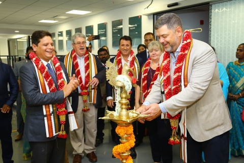 Cook Medical celebrates its new office opening in Chennai with a traditional Puja ceremony led by Pete Yonkman, President of Cook Group and Cook Medical, underscoring our commitment to India and its community. (Photo: Business Wire)