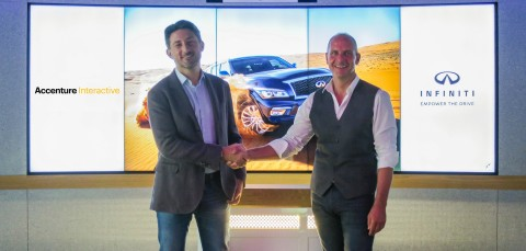 (L to R) David Fregonas, Accenture Interactive lead in the Middle East and Karsten Jankowski, General Manager of Marketing and PR for INFINITI Middle East (Photo: Business Wire)