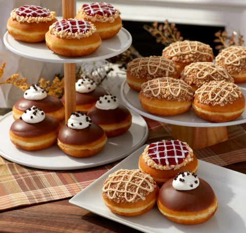 Three new pie-inspired doughnuts take the stress out of prep, available now through Thanksgiving at participating shops (Photo: Business Wire)