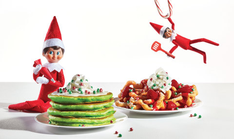 IHOP has announced a new limited-time menu in partnership with The Elf on the Shelf®, which features holiday-inspired items like Jolly Cakes, Oh What Funnel Cakes and more. (Photo: Business Wire)