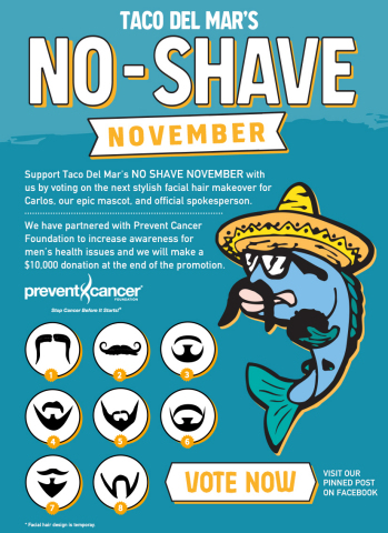 Taco Del Mar's No-Shave November (Photo: Business Wire)