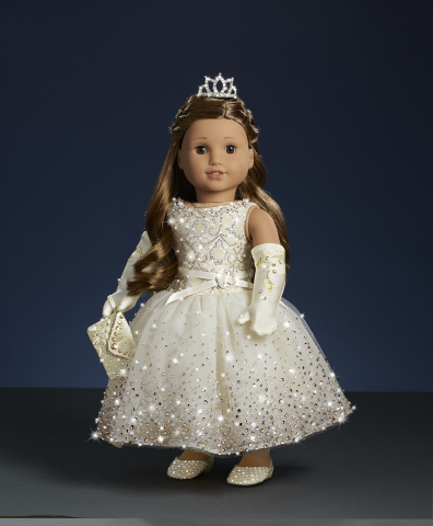 One of three American Girl Holiday Collector dolls created in collaboration with Swarovski crystals, each of which retails for $5,000 and will be showcased at American Girl's holiday window unveiling celebrations at their flagship stores in New York, Chicago, and Los Angeles. (Photo: Business Wire)