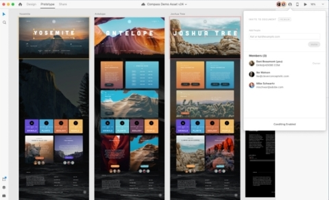 Adobe XD Coediting (beta) (Graphic: Business Wire)
