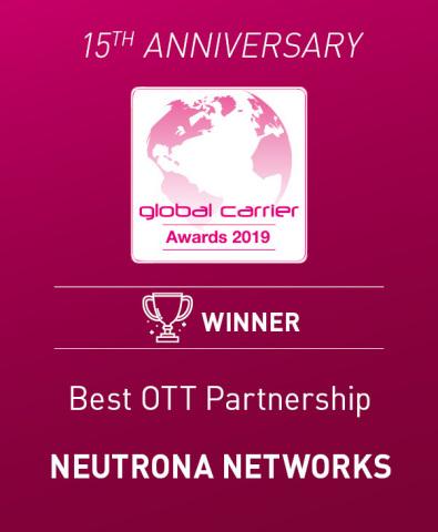 Prêmio Best OTT Partnership - Neutrona Networks (Photo: Business Wire)