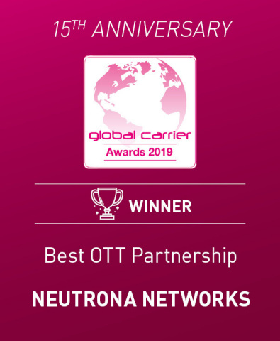 Premio a Best OTT Partnership - Neutrona Networks (Photo: Business Wire)