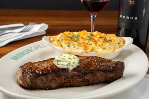 Prime New York Strip/Not Your Ordinary Mac and Cheese (Photo: Business Wire)