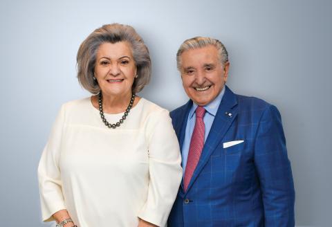 Mirella & Lino Saputo Foundation的Mirella和Lino Saputo。(照片:美國商業資訊)
