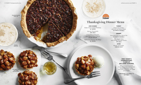TODAY Show Thanksgiving Menu for Williams Sonoma (Photo: Business Wire)