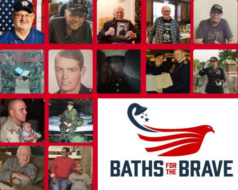 The 2019 Baths for the Brave veteran recipients. (Graphic: Business Wire)