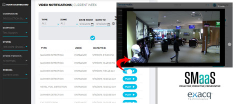 Retailers can now quickly view video clips of EAS alarm events in one single SMaaS dashboard, improving efficiency and saving time. (Photo: Business Wire)