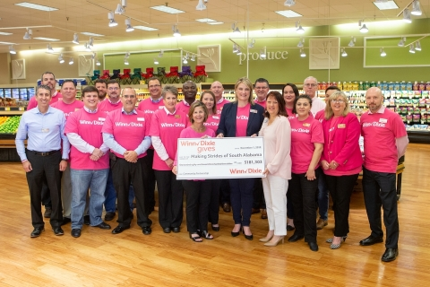 Winn-Dixie is proud to announce a donation of $181,303 to the American Cancer Society Making Strides Against Breast Cancer. (Photo: Business Wire)