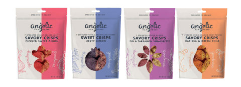 Angelic Bakehouse Sweet and Savory Sprouted Crisps (Graphic: Business Wire)