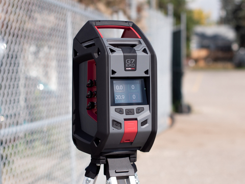 Blackline Safety's G7 EXO cellular and satellite-connected area monitor will be on display at A+A 2019 in Düsseldorf and ADIPEC 2019 in the Middle East. (Photo: Business Wire)